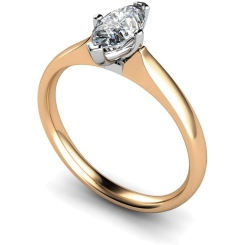 HRM476 Marquise Solitaire Diamond Ring - rose