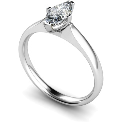 HRM476 Marquise Solitaire Diamond Ring - white