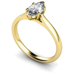 HRM478 Marquise Solitaire Diamond Ring - yellow