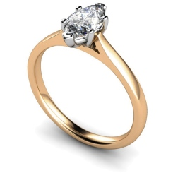 HRM478 Marquise Solitaire Diamond Ring - rose