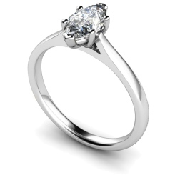 HRM478 Marquise Solitaire Diamond Ring - white