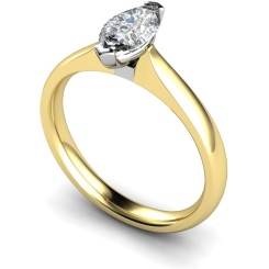 HRM545 Marquise Solitaire Diamond Ring - yellow