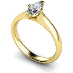 HRM546 Marquise Solitaire Diamond Ring - yellow