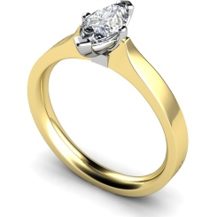 HRM549 Marquise Solitaire Diamond Ring - yellow
