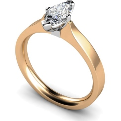 HRM549 Marquise Solitaire Diamond Ring - rose