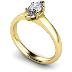 HRM554 Marquise Solitaire Diamond Ring - yellow