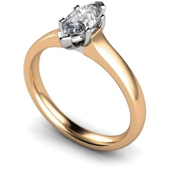 HRM554 Marquise Solitaire Diamond Ring - rose