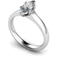 HRM554 Marquise Solitaire Diamond Ring - white