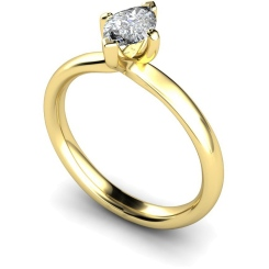 HRM555 Marquise Solitaire Diamond Ring - yellow