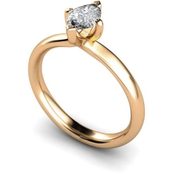 HRM555 Marquise Solitaire Diamond Ring - rose