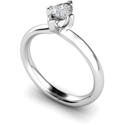 HRM555 Marquise Solitaire Diamond Ring - white
