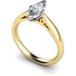 HRM566 Marquise Solitaire Diamond Ring - yellow