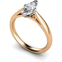 HRM566 Marquise Solitaire Diamond Ring - rose