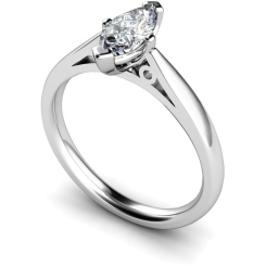 HRM566 Marquise Solitaire Diamond Ring - white