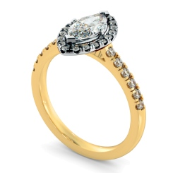 HRMSD814 Marquise Halo Diamond Ring - yellow