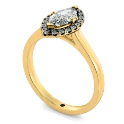 HRMSD842 Marquise Halo Diamond Ring - yellow