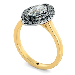 HRMSD843 Marquise Halo Diamond Ring - yellow
