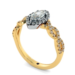 HRMSD845 Marquise Halo Diamond Ring - yellow