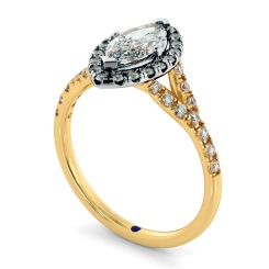 HRMSD846 Marquise Halo Diamond Ring - yellow