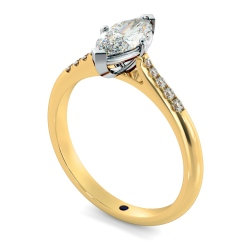 HRMSD872 Marquise Shoulder Diamond Ring - yellow
