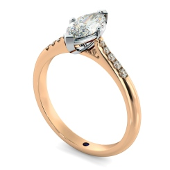 HRMSD872 Marquise Shoulder Diamond Ring - rose