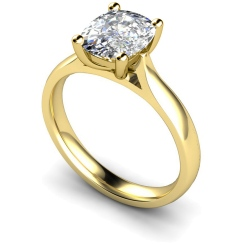 HRO348 Oval Solitaire Diamond Ring - yellow