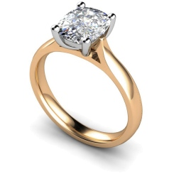 HRO348 Oval Solitaire Diamond Ring - rose
