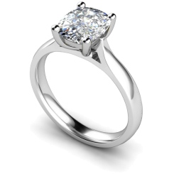HRO348 Oval Solitaire Diamond Ring - white