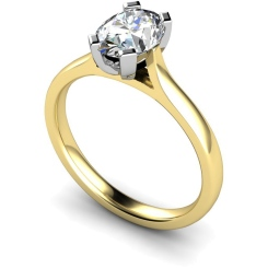 HRO359 Oval Solitaire Diamond Ring - yellow