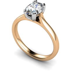 HRO359 Oval Solitaire Diamond Ring - rose