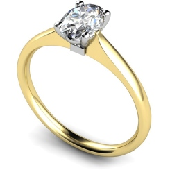 HRO421 Oval Solitaire Diamond Ring - yellow