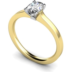 HRO429 Oval Solitaire Diamond Ring - yellow