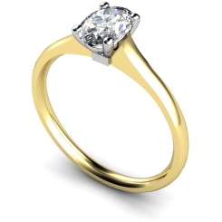 HRO433 Oval Solitaire Diamond Ring - yellow