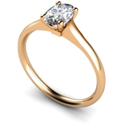 HRO433 Oval Solitaire Diamond Ring - rose