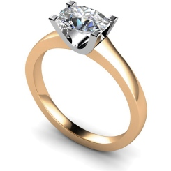 HRO525 Oval Solitaire Diamond Ring - rose