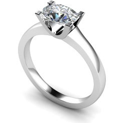 HRO525 Oval Solitaire Diamond Ring - white