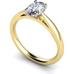 HRO564 Oval Solitaire Diamond Ring - yellow