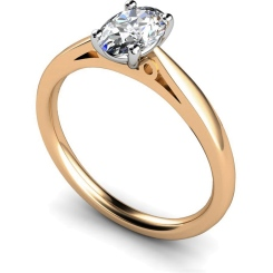 HRO564 Oval Solitaire Diamond Ring - rose