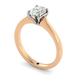 HRO620 Oval Solitaire Diamond Ring - rose