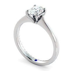 HRO620 Oval Solitaire Diamond Ring - white