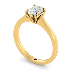 HRO620 Oval Solitaire Diamond Ring - yellow