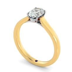 HRO866 Oval Shoulder Diamond Ring - yellow