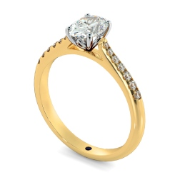 HROSD867 Oval Shoulder Diamond Ring - yellow