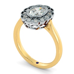 HROSD870 Oval Shoulder Diamond Ring - yellow