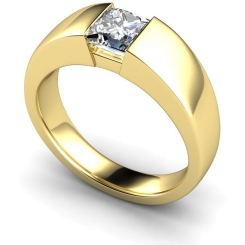 HRP261 Princess Solitaire Diamond Ring - yellow