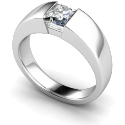 HRP261 Princess Solitaire Diamond Ring - white