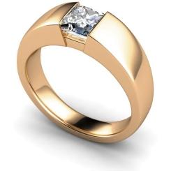 HRP261 Princess Solitaire Diamond Ring - rose