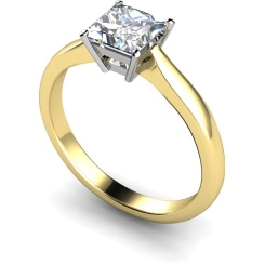 HRP266 Princess Solitaire Diamond Ring - yellow