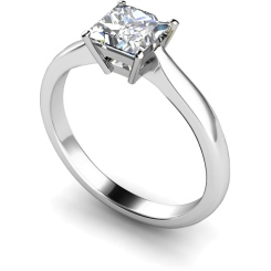 HRP266 Princess Solitaire Diamond Ring - white