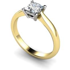 HRP283 Princess Solitaire Diamond Ring - yellow